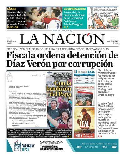 Edición impresa, 14 de agosto de 2018