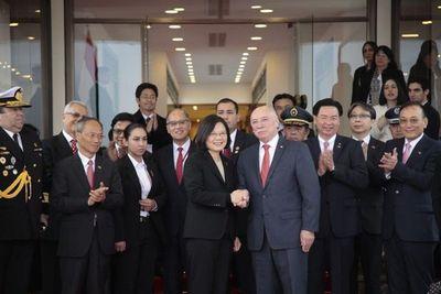Presidenta de Taiwán llegó a Paraguay