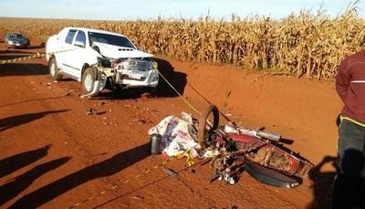 Hermanas menores de edad mueren en accidente de motocicleta