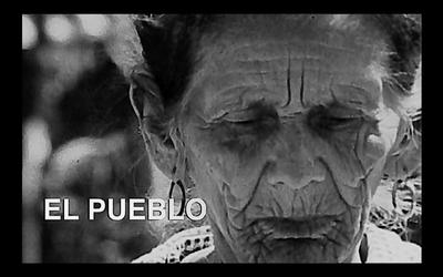 """Proyección de """"El pueblo"""" e inauguración de la Sala Carlos Saguier"""