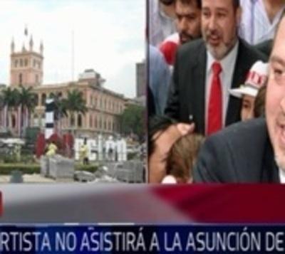 Bancada cartista no asistirá a asunción de Mario Abdo Benítez