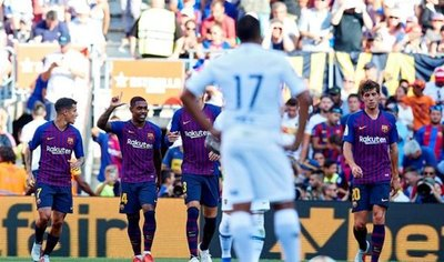 Barcelona golea a Boca y gana el trofeo Joan Gamper