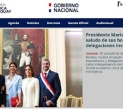 Páginas web tienen una nueva faz tras asunción de Mario Abdo