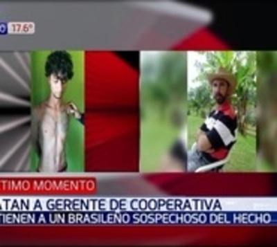 Detienen a brasileño por robo a cooperativa y asesinato de gerente