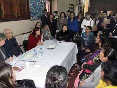 Ministros de la CSJ visitaron el Buen Pastor