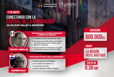 Referente de Silicon Valley hablará sobre cómo replicar la cultura de la innovación en Paraguay