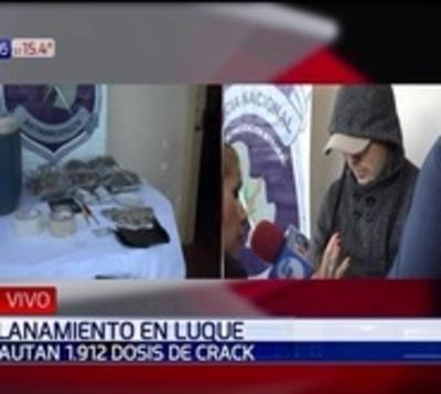 Incautan drogas por la suma de G. 50 millones en Luque