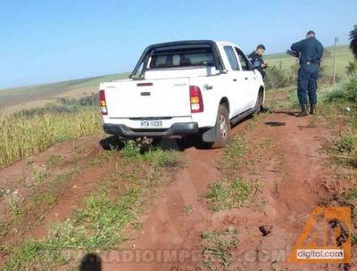 Policía de Capitán Bado recupera camioneta robada