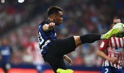 Inter vence a Atlético con un golazo de Lautaro Martínez