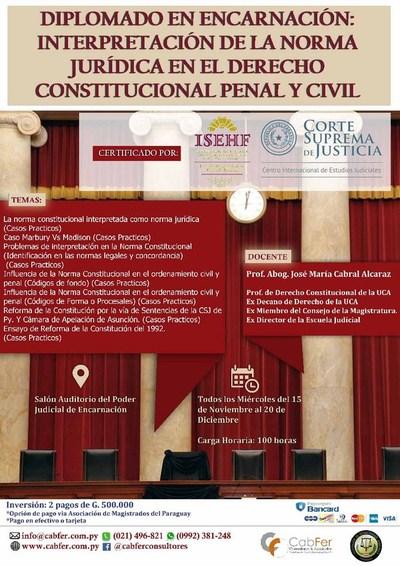 Diplomado en derecho constitucional penal y civil