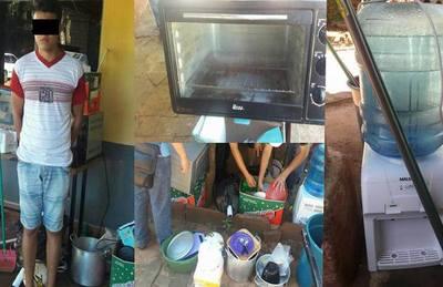Se llevó el combo de electrodomésticos de un colegio de San Juan Bautista