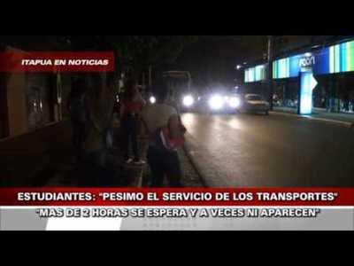 ITINERARIOS Y HORARIOS NO SON CUMPLIDOS POR EL TRANSPORTE PUBLICO