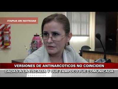 HAY VERSIONES CONTRADICTORIAS EN CUANTO AL PROCEDIMIENTO DE ANTINARCÓTICOS