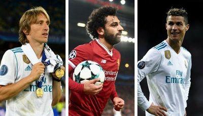 Ronaldo, Modric y Salah son los finalistas