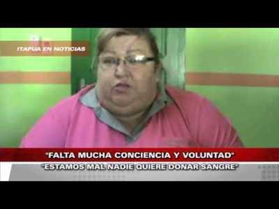 """""""NO EXISTE VOLUNTAD PARA LA DONACIÓN DE SANGRE A NIVEL PAÍS"""""""