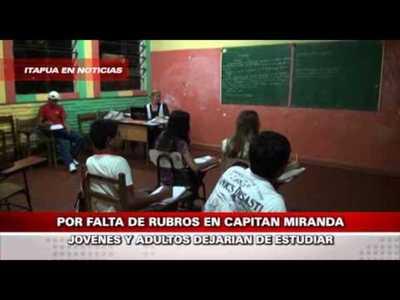 DOCENTES SE ENCUENTRAN SIN RUBROS DESDE EL 2012