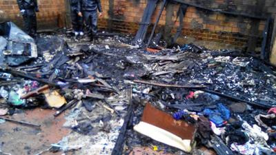 Rayo hizo explotar un cargador de celular y desató un incendio