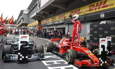 Vettel triunfa en el GP de Bélgica