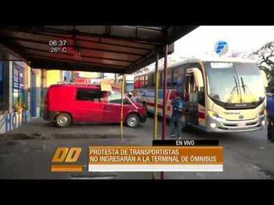 Transportistas exigen mejoras en la Terminal de Ómnibus