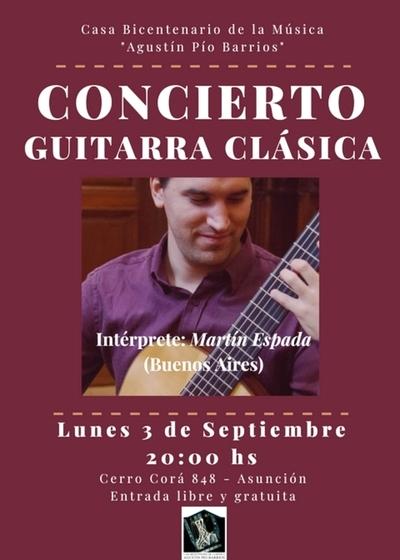 Concierto de guitarra clásica con Martín Espada