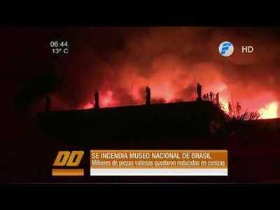 Museo Nacional de Brasil se incendió por completo.