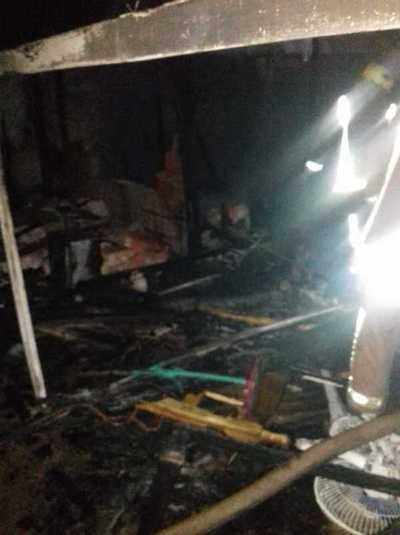 Incendio consumió una vivienda en Concepción
