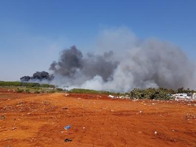 Incendio de importante magnitud en vertedero de CDE