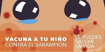NIÑOS DEBEN TENER AL DÍA ESQUEMA DE VACUNA CONTRA EL SARAMPIÓN