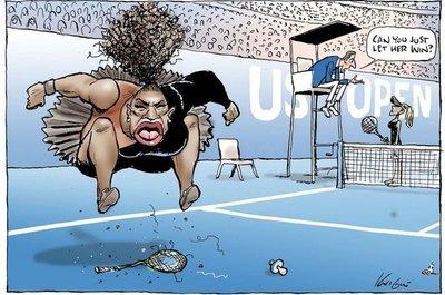 Críticas a dibujante por caricatura de Serena Williams