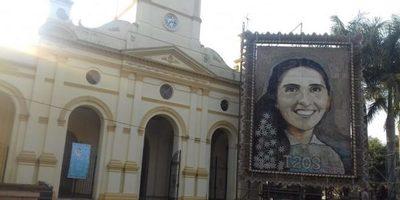 Retablo de Chiquitunga ya está en Villarrica