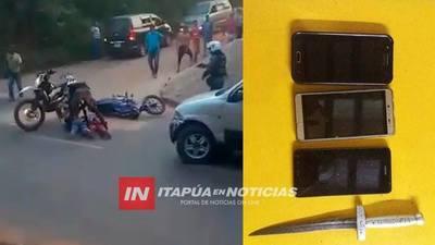 LINCES EN ACCIÓN EN LIMPIO: ASÍ ATRAPARON A MOTOCHORROS.