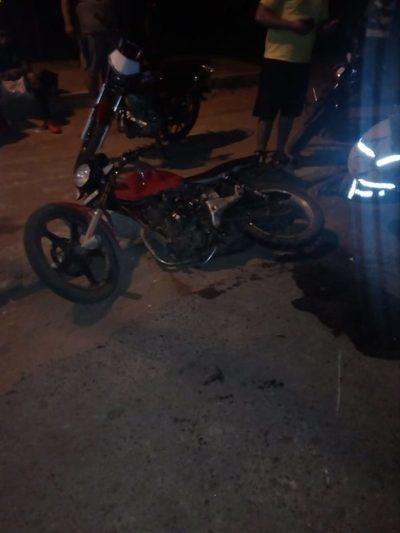 Avelino Martínez: Colisionaron dos motos entre si