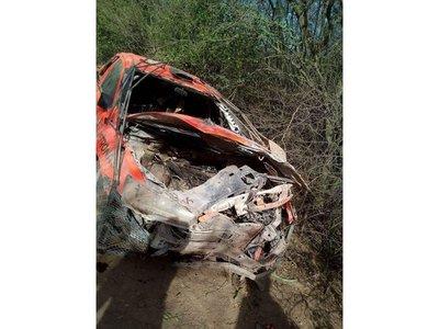 Brutal accidente de Zapag en el Rally del Chaco 2017