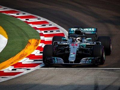 Hamilton saldrá desde la 'pole' en Singapur