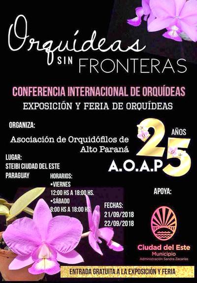 Organizan exposición de orquídeas en CDE