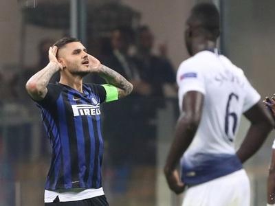 Inter ganó en tiempo de adición al Tottenham