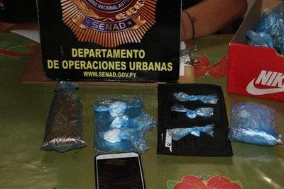 Detienen a proveedor de cocaína y marihuana