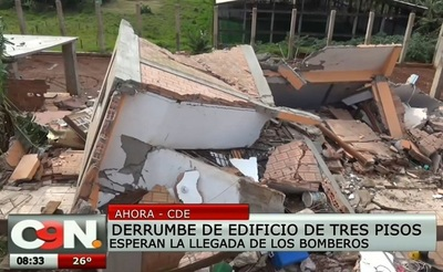 Video retrata impactante derrumbe de edificio en el este