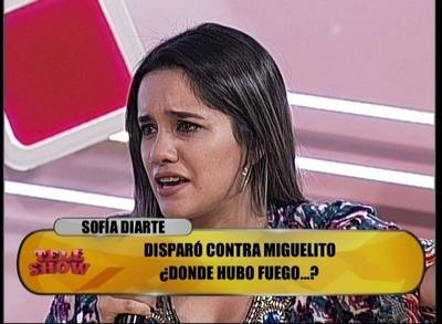 Sofía Diarte rompió en llanto por declaraciones de Miguelito Quintana