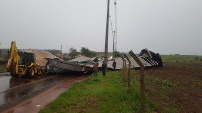 Temporal causó estragos en Curuguaty