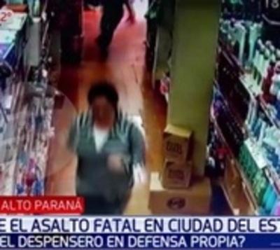 Filtran imágenes de asalto dentro de la tienda en Ciudad del Este