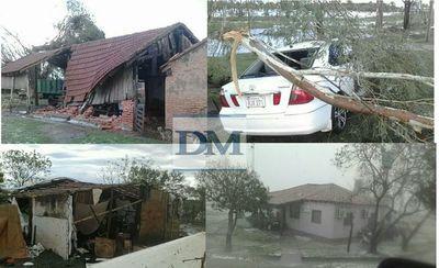 Granizada causó destrozos en las localidades de Yvyraty y Kokueré