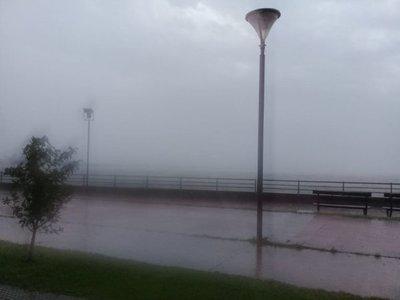 Lluvias y descargas atmosféricas en el Sur