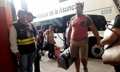 Dinatran controla servicio de buses en la terminal