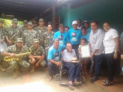 Horqueta: Excombatiente cumplió 105 años de vida