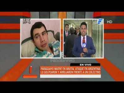 Matan a un paraguayo en Argentina tras brutal ataque