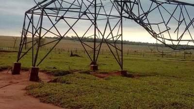Horqueta: Temporal derriba torres de alta tensión