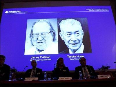 Allison y Honjo comparten Nobel de Medicina por terapias de cáncer