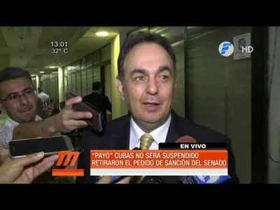Retiran pedido de suspensión a Paraguayo Cubas