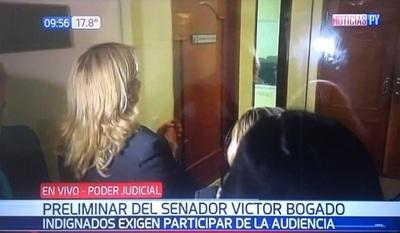 Reclaman acceso a audiencia de Víctor Bogado